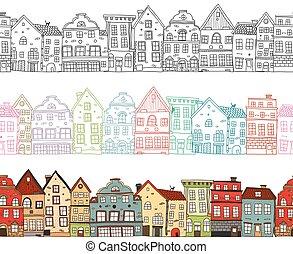 seamless, casas, compositions