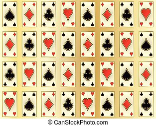 Seamless casino pattern with poker