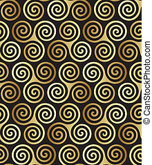 Seamless celtic pattern - Seamless triple celtic spiral...