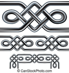 Seamless celtic rope border