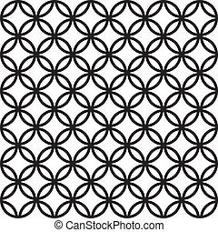 seamless, cerca, de, círculos, plano de fondo