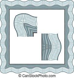 seamless certificate classic decorative border