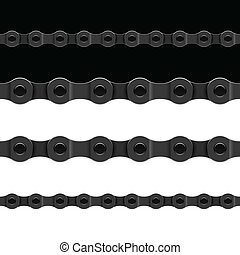 Seamless chain - Horizontally seamless illustration of a...