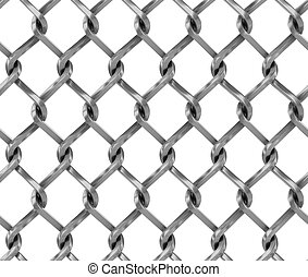 Seamless chainlink fence 3d illustration