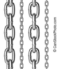 Seamless chains. - Seamless chains isolated over white...
