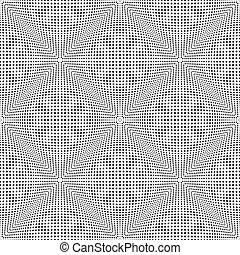 Seamless checked 3D pattern. Convex texture. Vector art.