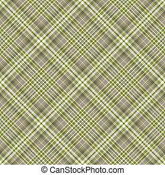 Seamless checkered diagonal pattern - Seamless grey-green...