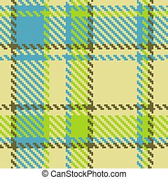 Seamless checkered green blue brown pattern
