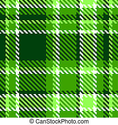 Seamless Checkered Green Color Vector Pattern