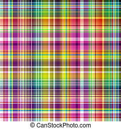 Seamless vivid rainbow checkered pattern (vector)