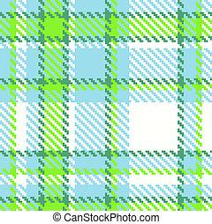 Seamless checkered vector pattern - Seamless Checkered Green...
