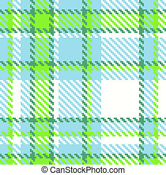 Seamless checkered vector pattern - Seamless Checkered Green...