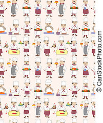 seamless chef pattern
