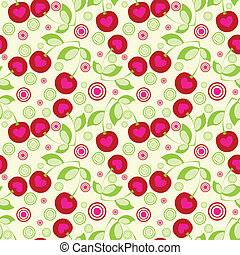 Seamless cherry background.