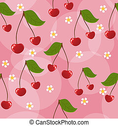 Seamless cherry background