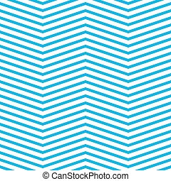 Seamless chevron pattern in blue and white. Horizontal zigzag lines in obtuse angle. Retro navy style vector background.