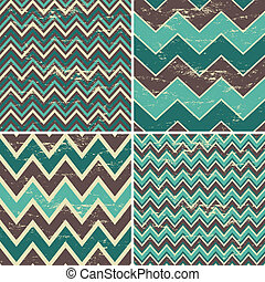 Seamless Chevron Patterns Collectio - A set of four seamless...