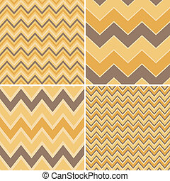 Seamless Chevron Patterns Collectio