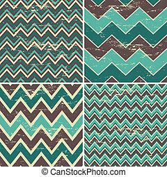 Seamless Chevron Patterns Collectio - A set of four seamless...