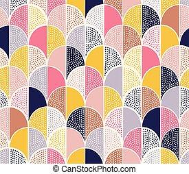 seamless childish doodle dots fun pattern