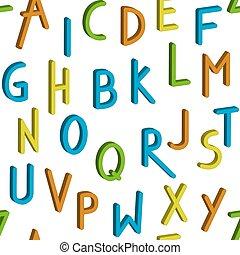 Seamless childrens bright alphabet pattern. Vector background.