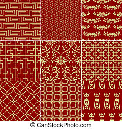 seamless chinese background - seamless traditional...