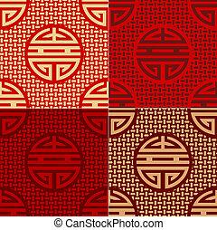 seamless chinese character pattern
