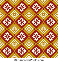 seamless chinese fabric pattern