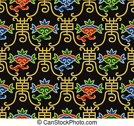 seamless chinese longevity pattern