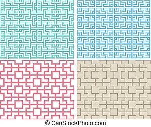 Seamless chinese pattern in modern style