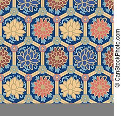 seamless chinese style floral pattern