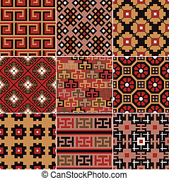 seamless Chinese Turkestan pattern