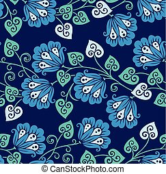 Seamless chinese vector floral pattern for ceramic design