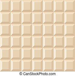 seamless, chocolade, achtergrond., vector, tegel, witte
