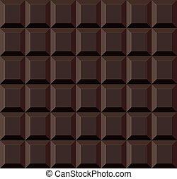 seamless, chocolade, donker, achtergrond., vector, tegel