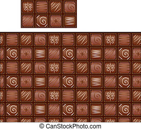 seamless chocolate pattern - The chocolates arranged in a...