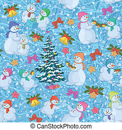 Seamless Christmas background. Vector