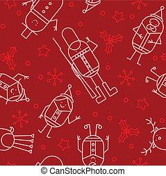 Seamless Christmas character backgr