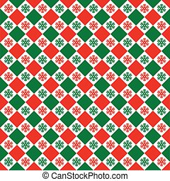 Seamless Christmas Check Pattern