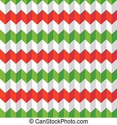 Seamless Christmas chevron pattern