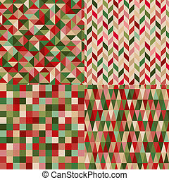 seamless christmas colors pattern