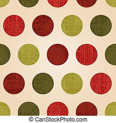 seamless christmas dots pattern
