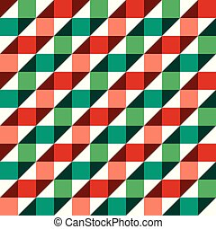 Seamless Christmas gift wrapping paper pattern. Spiral fold...