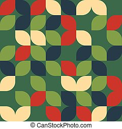 Seamless christmas leaf pattern