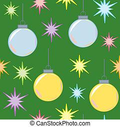 Seamless Christmas Lights and Ornam