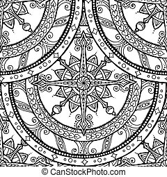 Seamless Christmas mandala with lace snowflake. - Seamless ...