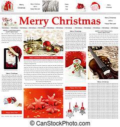 Seamless Christmas newspaper pattern