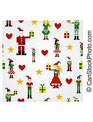 Seamless Christmas pattern background