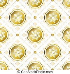 seamless christmas pattern background with confetti gold snowflake with gold dot glitter
