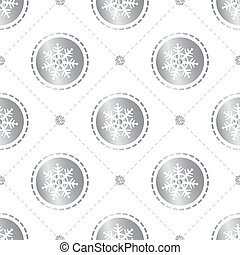 seamless christmas pattern background with confetti snowflake with silver dot glitter